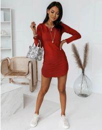 Φόρεμα - κώδ. 8856 - κόκκινο