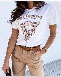Κοντομάνικο μπλουζάκι - κώδ. 428 - 1 - λευκό