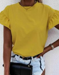 Κοντομάνικο μπλουζάκι - κώδ. 4352 - μουσταρδί