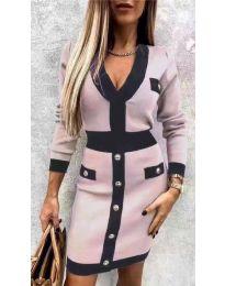 Φόρεμα - κώδ. 7574 - ροζ