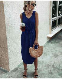 Φόρεμα - κώδ. 681 - σκούρο μπλε