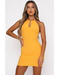 Φόρεμα - κώδ. 11936 - κίτρινο