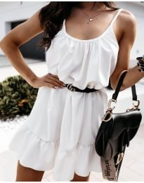 Φόρεμα - κώδ. 7768 - λευκό