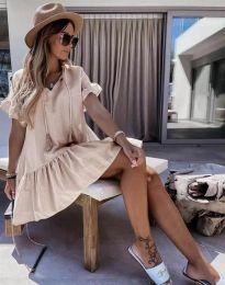 Φόρεμα - κώδ. 6144 - μπεζ