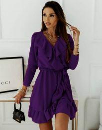 Φόρεμα - κώδ. 0578 - 3 - σκούρο μωβ