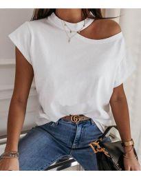 Κοντομάνικο μπλουζάκι - κώδ. 3725 - λευκό