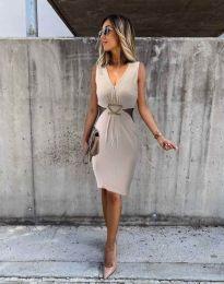 Φόρεμα - κώδ. 0225 - 2 - μπεζ
