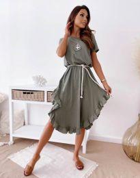 Φόρεμα - κώδ. 11893 - λαδί
