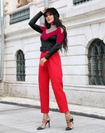 Дамска блуза в три цвята с поло яка - код 0521 - 3