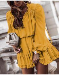 Φόρεμα - κώδ. 3231 - κίτρινο