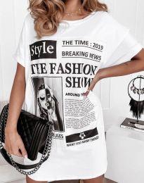 Φόρεμα - κώδ. 7775 - λευκό