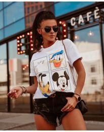 Κοντομάνικο μπλουζάκι - κώδ. 964 - 3 - λευκό