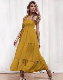 Φόρεμα - κώδ. 1729 - μουσταρδί