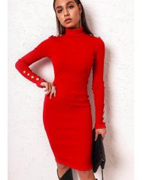 Φόρεμα - κώδ. 11513 - κόκκινο