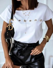 Κοντομάνικο μπλουζάκι - κώδ. 4318 - λευκό