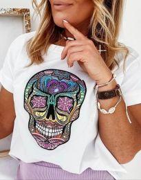Κοντομάνικο μπλουζάκι - κώδ. 4322 - λευκό