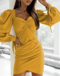 Φόρεμα - κώδ. 0363 - μουσταρδί