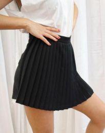 Дамска къса плисирана пола тип панталонки в черно - код 8787