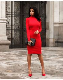 Φόρεμα - κώδ. 7099 - 2 - κόκκινο