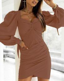Φόρεμα - κώδ. 0363 - καφέ