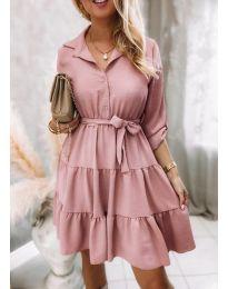 Φόρεμα - κώδ. 6970 - ροζ