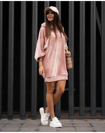 Φόρεμα - κώδ. 4547 - ροζ