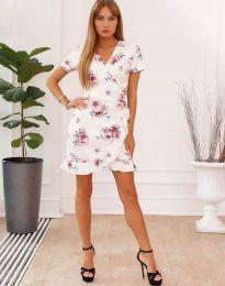 Φόρεμα - κώδ. 7171 - 2 - λευκό