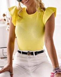 Κοντομάνικο μπλουζάκι - κώδ. 5955 - 1 - κίτρινο