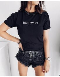 Κοντομάνικο μπλουζάκι - κώδ. 951 - 1 - μαύρο