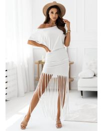 Φόρεμα - κώδ. 12003 - λευκό