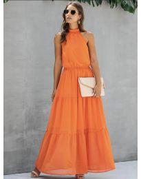 Φόρεμα - κώδ. 8855 - πορτοκαλί