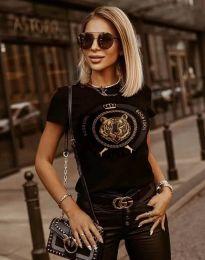 Κοντομάνικο μπλουζάκι - κώδ. 2126 - μαύρο