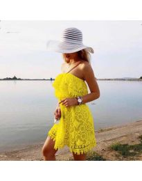 Φόρεμα - κώδ. 4849 - κίτρινο