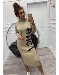 Φόρεμα - κώδ. 497 - μπεζ