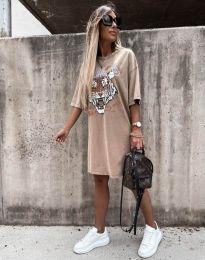 Φόρεμα - κώδ. 11864 - μπεζ