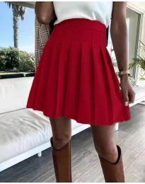 Кокетна плисирана пола в червено - код 8116