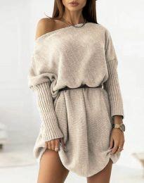 Φόρεμα - κώδ. 6940 - μπεζ
