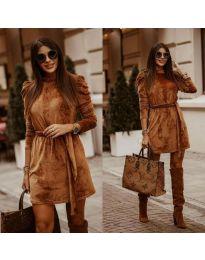 Φόρεμα - κώδ. 0722 - καφέ