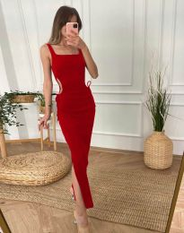 Φόρεμα - κώδ. 1272 - κόκκινο