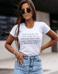 Κοντομάνικο μπλουζάκι - κώδ. 4460 - λευκό