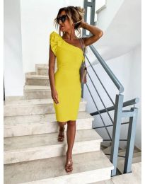 Φόρεμα - κώδ. 710 - κίτρινο