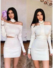 Φόρεμα - κώδ. 3982 - λευκό