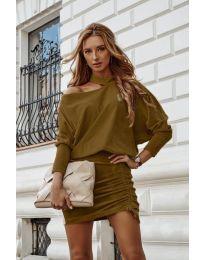 Φόρεμα - κώδ. 8987 - καφέ