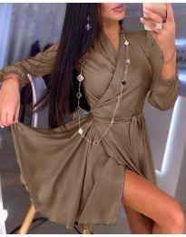 Φόρεμα - κώδ. 2428 - καφέ