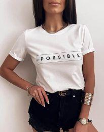Κοντομάνικο μπλουζάκι - κώδ. 2272 - λευκό