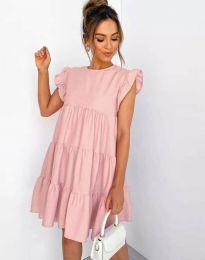 Φόρεμα - κώδ. 2666 - ροζ