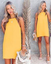 Φόρεμα - κώδ. 2169 - κίτρινο
