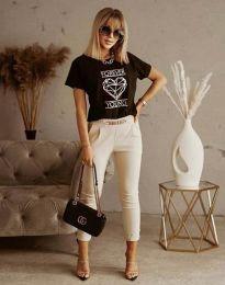 Κοντομάνικο μπλουζάκι - κώδ. 1547 - μαύρο