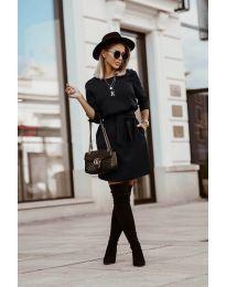 Φόρεμα - κώδ. 6100 - μαύρο