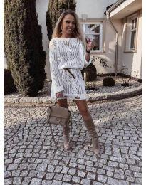 Φόρεμα - κώδ. 6208 - λευκό